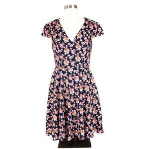 Betsey Johnson Floral Print Cap Sleeve Dress